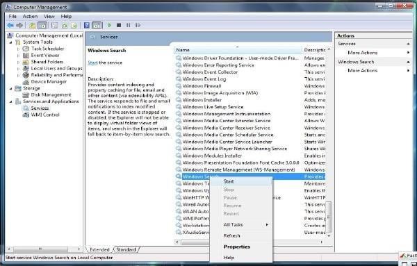 Windows Search Indexer no funciona 2