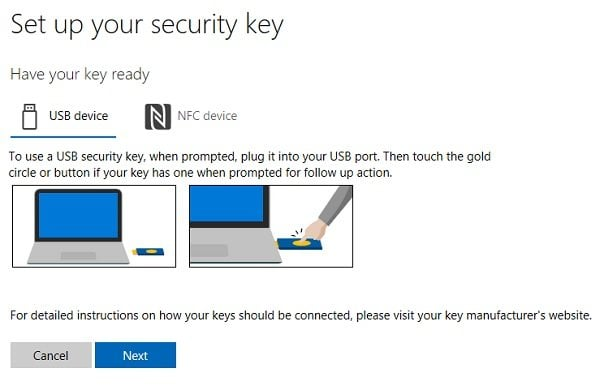 Cómo configurar la clave de seguridad para su cuenta de Microsoft
