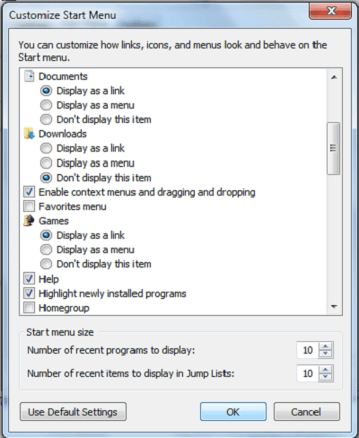 El Explorador de juegos vacío o el enlace no funciona en Windows 7 2