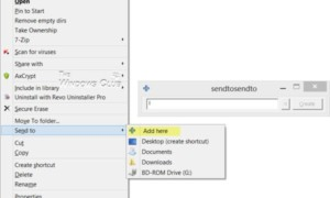 Personalizar y agregar elementos al menú Enviar a en Windows 10/8/7