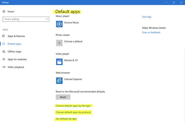 Cómo cambiar los programas predeterminados en Windows 10/8/7
