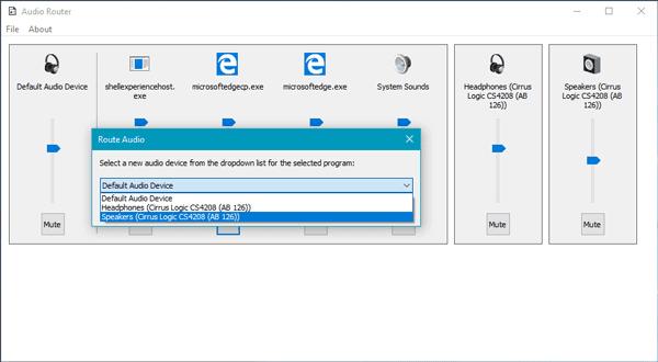 El enrutador de audio enruta el audio de los programas a diferentes dispositivos de audio
