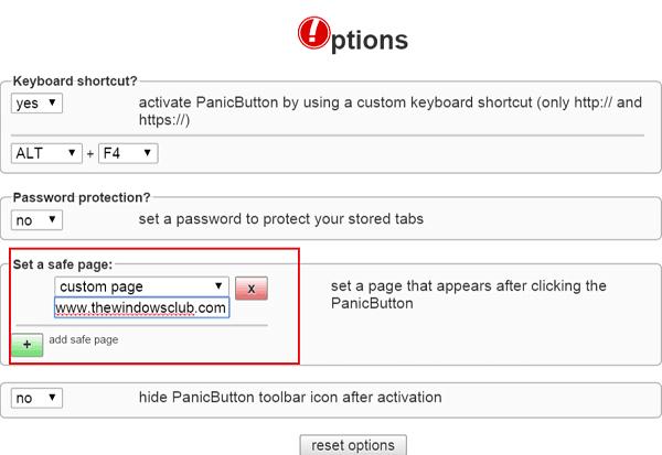 Ocultar varias pestañas en Google Chrome al instante con el botón de pánico