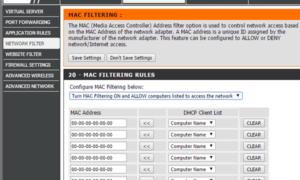 Cómo configurar el filtrado de MAC en el router Dlink