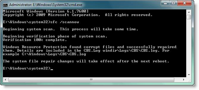 Comprobador de archivos de sistema: Ejecute sfc /scannow y analice sus registros en Windows 10