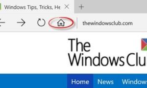 Agregar un botón Inicio al navegador Microsoft Edge en Windows 10