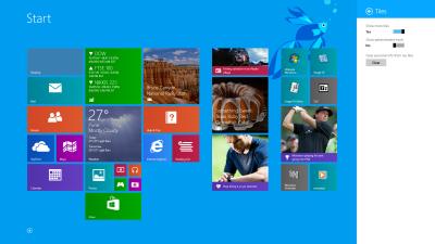 Uso de la configuración Mostrar más azulejos en Windows 8