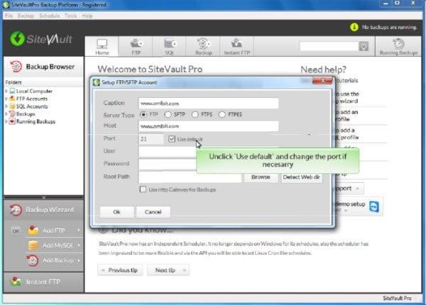 Sorteo: SiteVault Pro, un software de copia de seguridad de sitios web y una herramienta de copia de seguridad FTP