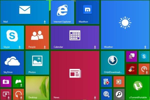Nuevo signo de flecha hacia abajo en la aplicación Windows 8.1 puzzles de fichas de los usuarios
