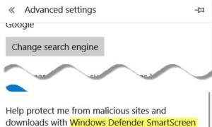 No se puede acceder a Windows SmartScreen ahora mismo