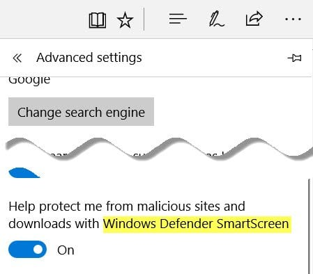 Cómo apagar o desactivar el Filtro SmartScreen en Windows 10 7