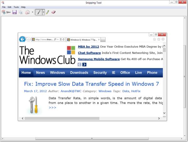 Snipping Tool en Windows 10/8/7: consejos y trucos para capturar capturas de pantalla 5