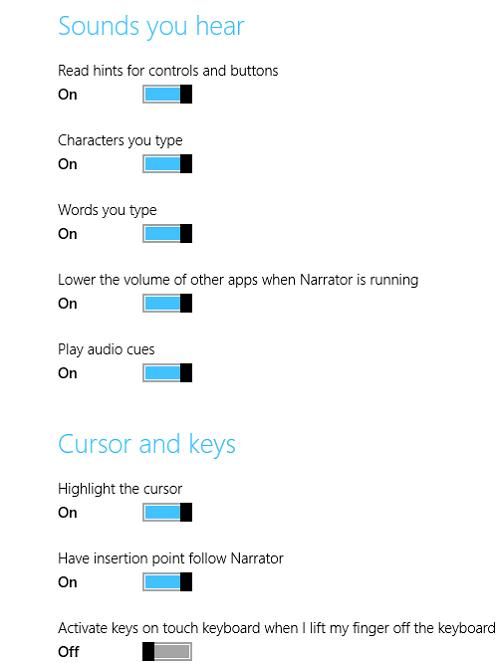Cómo usar el Narrador en Windows 10/8/7 6