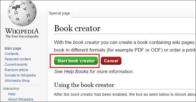 Cómo crear un libro electrónico a partir de Wikipedia 2