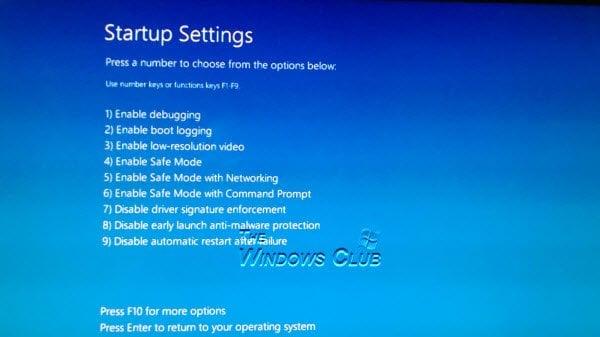 Corregir el error de falta de archivo Winload.efi en Windows 10