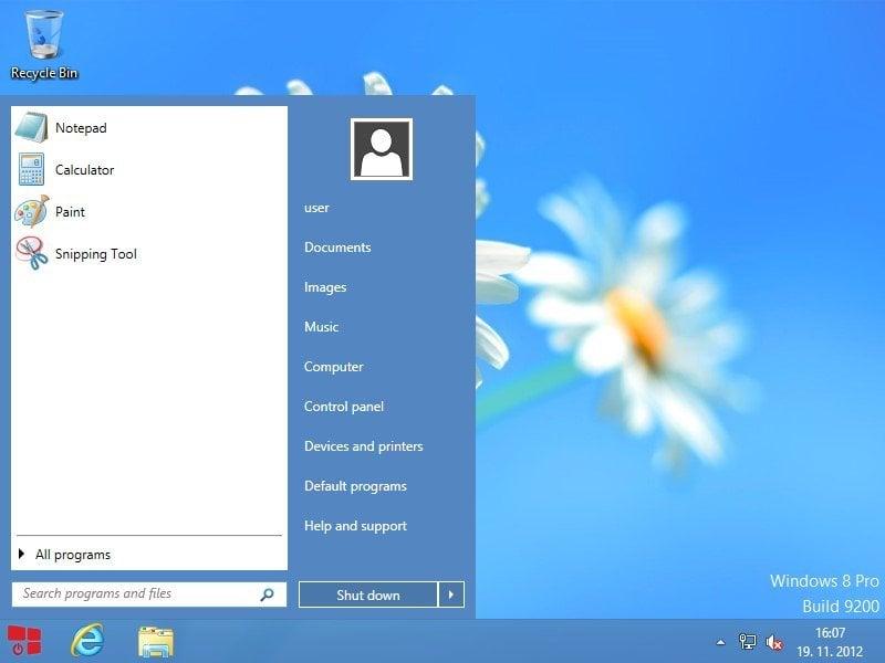 StartW8: Un reemplazo gratuito del menú de inicio de Windows 8.