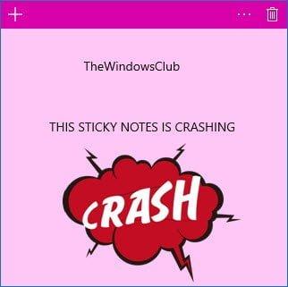 Sticky Notes se bloquea y deja de funcionar en Windows 10 1