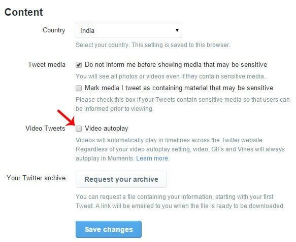 Cómo evitar que los vídeos se reproduzcan automáticamente en Twitter