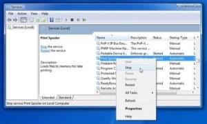 Cancelar trabajos atascados o atascados en la cola de trabajos de impresión en Windows 10/8/7