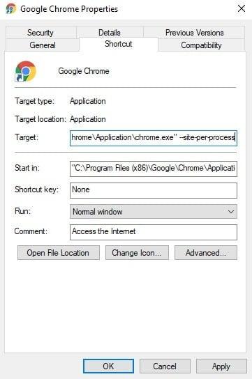 Cómo habilitar el Aislamiento Estricto de Sitios en el navegador Chrome