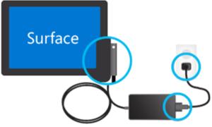 La batería de Surface Pro o Surface Book no se está cargando