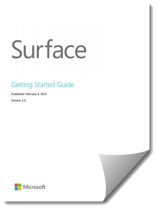 Descargar Surface Getting Started Guide de Microsoft