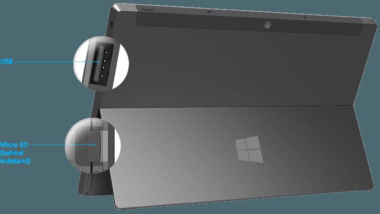 Opciones de almacenamiento y espacio en disco en Surface RT explicados