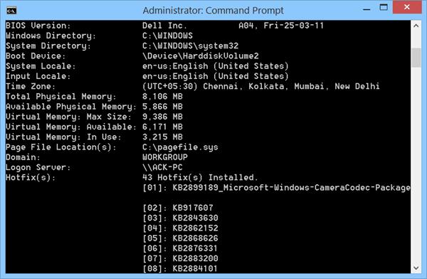 Información del sistema Averigüe cuándo se instaló Windows y otra información del sistema