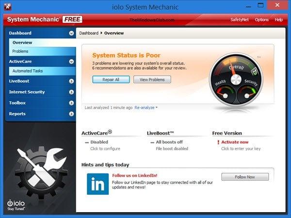 Sistema Mecánico Libre: Revisión del Optimizador de Windows