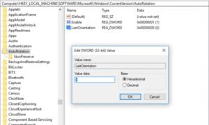 La rotación automática de la pantalla no funciona o está en gris en el modo Tabla de Windows 10