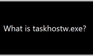 ¿Qué es taskhostw.exe? ¿Es un virus?