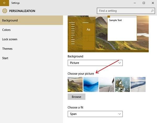 El fondo de escritorio de Windows cambia por sí mismo automáticamente