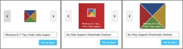 Pin sitio web Azulejo o acceso directo a la pantalla de inicio en Windows 8.1
