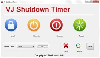 Herramientas gratuitas para el apagado automático, reiniciar el equipo con Windows a horas fijas