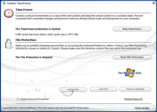 Toolwiz TimeFreeze: Software gratuito de protección y restauración del sistema para Windows 8 | 7 1