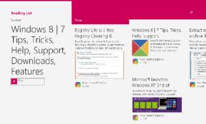 Añadir contenido a la aplicación Reading List en Windows 8.1