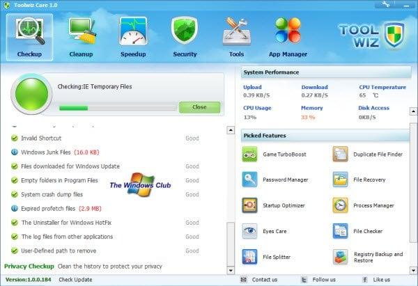 Descargar Toolwiz Care: Optimizador gratuito para PC con Windows