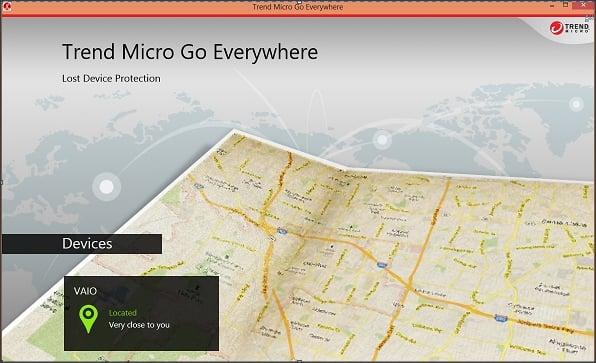 Trend Micro Go Everywhere le ayudará a localizar el dispositivo Windows 8 perdido