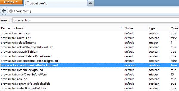 Forzar enlaces para abrir en segundo plano en IE, Firefox, Chrome, Opera 3