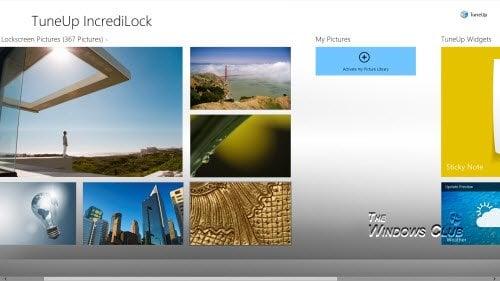 La aplicación Tune Up IncrediLock te permite personalizar la pantalla de bloqueo de Windows 8.