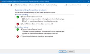 Cómo habilitar o deshabilitar Firewall de Windows Defender en Windows 10
