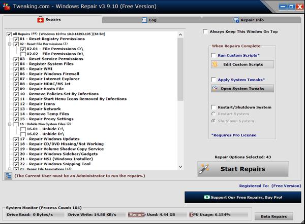 Reparación de Windows con la herramienta de reparación de Windows