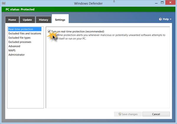 Cómo deshabilitar Windows Defender en Windows 10/8/7