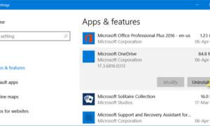 Cómo desinstalar la aplicación Microsoft OneDrive en Windows 10