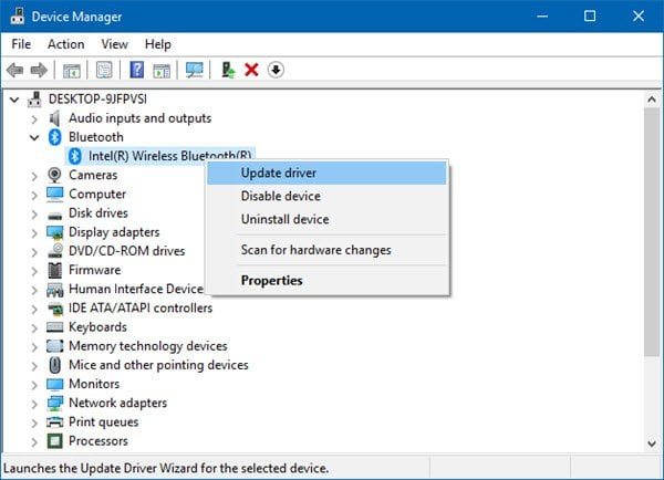 Cómo actualizar los controladores Bluetooth en Windows 10 1
