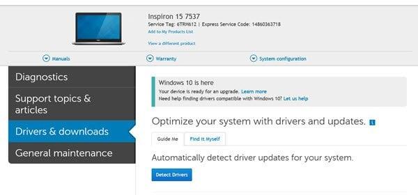 Descargue o actualice los controladores de Dell utilizando la utilidad de actualización de Dell