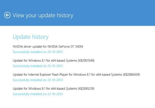 Opciones de Windows Update y Recovery en Windows 8.1 2