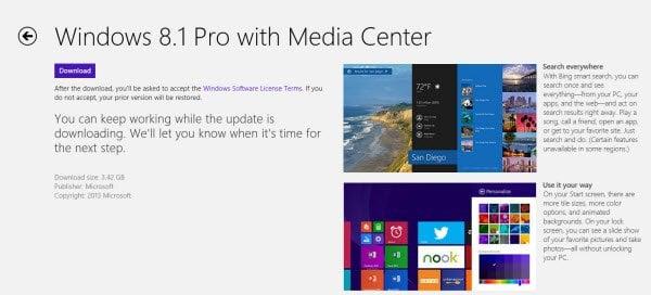 Cómo actualizar Windows 8 a Windows 8.1
