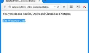 Cómo usar Firefox, Chrome, Opera como un bloc de notas
