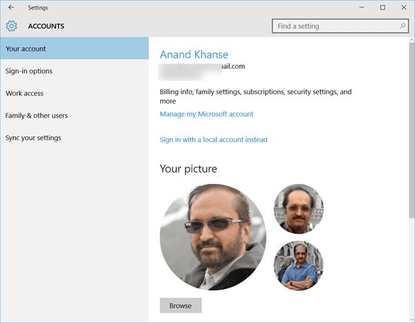 Eliminación de imágenes de cuentas de usuario antiguas en Windows 10 1